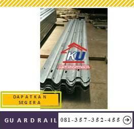 Jual Guardrail Murah Galvanis Hotdeep Ready Stock Tebal 4,5mm Sidoarjo