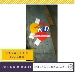 Guardrail Jalan Tol Tebal Post Dan Steel Block 5mm Galvanis Hotdeep Panjang 4 Meter